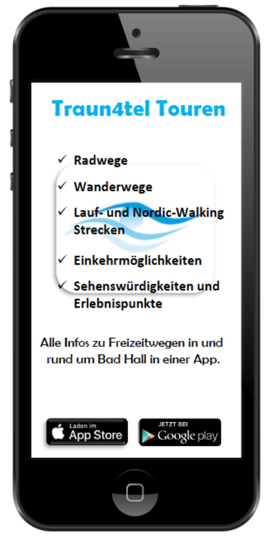 Traun4tler Tour: Neue Freizeitwege App für Bad Hall Steyr