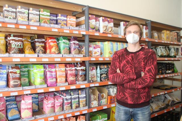 """""""Dion's glutenfrei"""": Angeboten werden Backmischungen, Cracker, Suppen oder Kuchen – darunter auch von der eigenen Marke """"Dion's""""."""