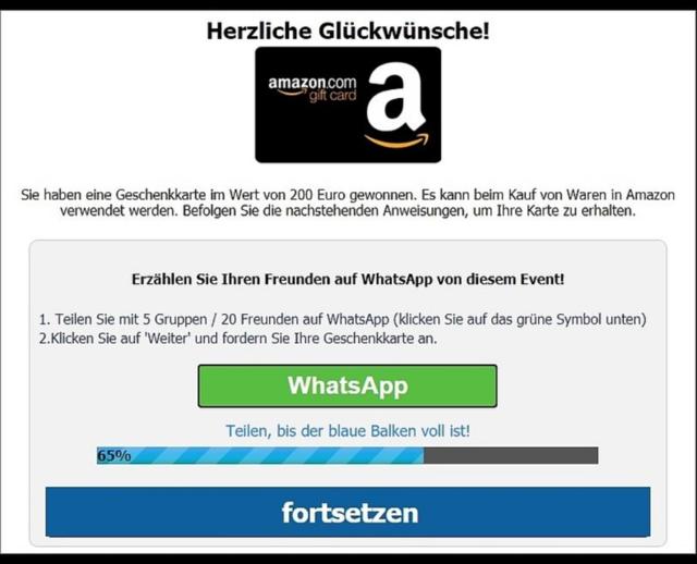 Amazon Gutschein Betrug