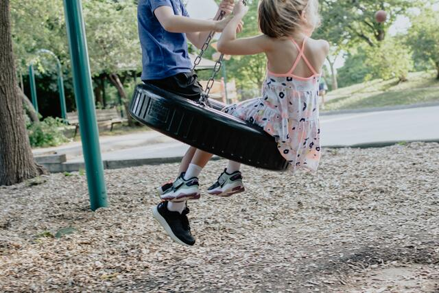 The playground is often the only way for children to really let off steam in the fresh air.