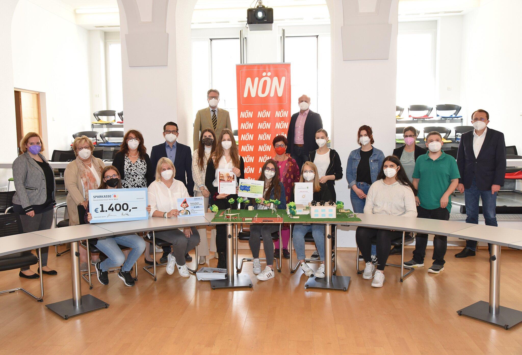 St. Pölten: Umweltpreis: SchülerInnen kühlen die Stadt