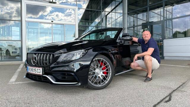 Christoph Moser presents the Mercedes-AMG GT as a sports car and as a convertible for rent!