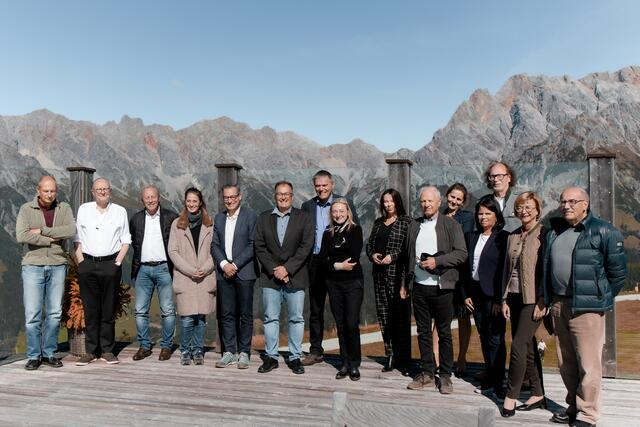 All invited experts were excited about the event and took the breaks to enjoy the mountain panorama.