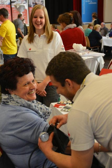 Auch das Rote Kreuz ist bei der Dorfgesundheitswoche in Brixlegg dabei.