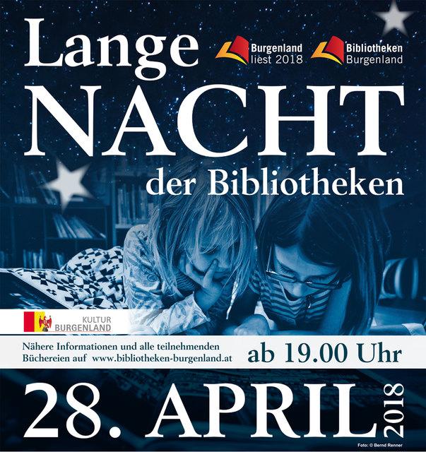"""Offizielles Plakat für die """"Lange Nacht der Bibliotheken"""""""