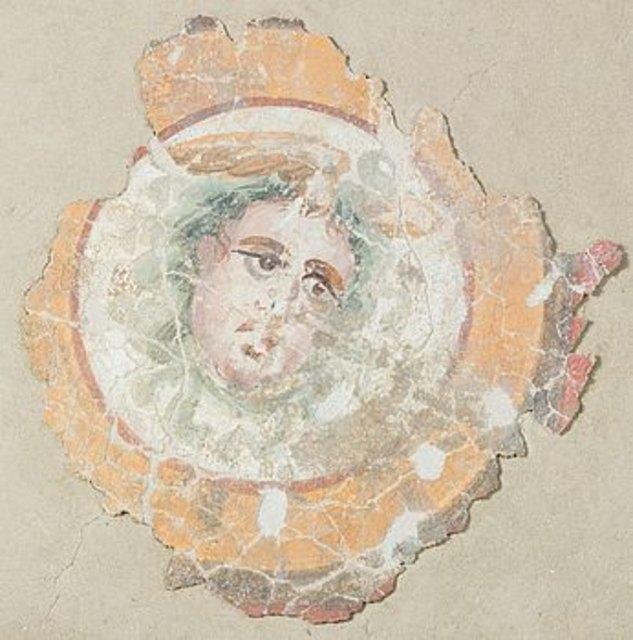 Fresko mit Gorgonenhaupt