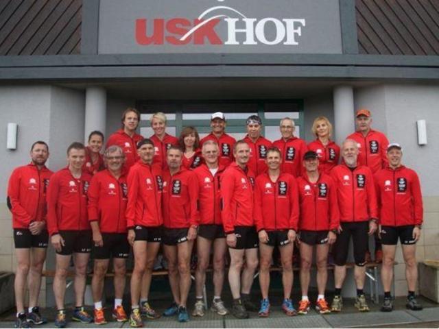 Gemeinsame wöchentlichen Trainingsläufen mit dem Lauftreff USK Hof