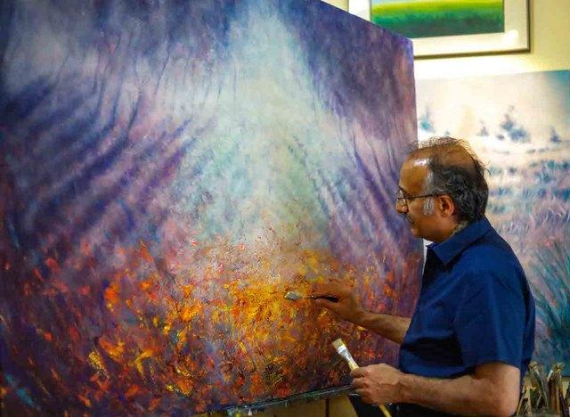 Behruz Bahadoori in seinem Atelier