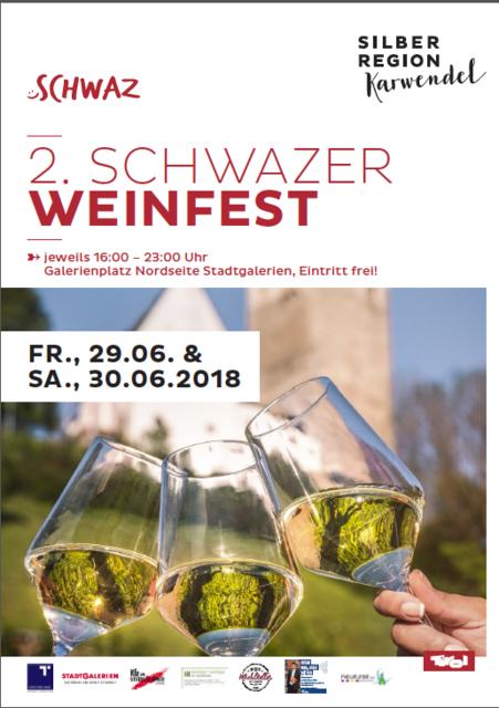 Im Sommer steht Schwaz ganz im Zeichen der Kulinarik und des Genusses. Es erwarten Sie heimische Schmankerl aus der Silberregion Karwendel und eine Vielzahl österreichischer Winzer mit ihren edlen Tropfen. Für musikalische Unterhaltung ist gesorgt.