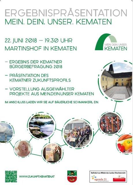 Einladung zur Ergebnispräsentation am 22. Juni 2018