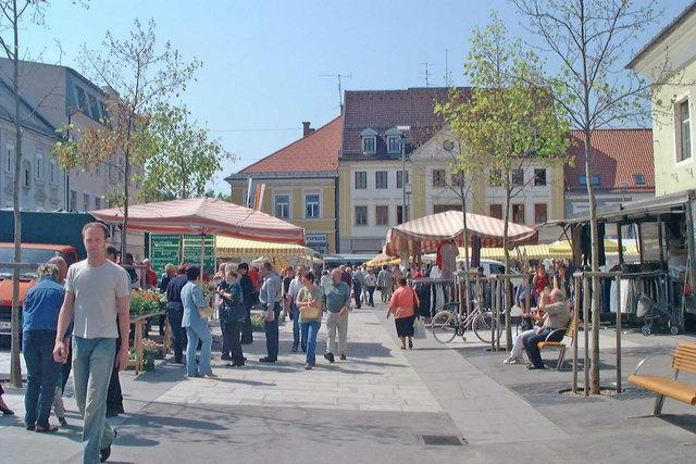 Mittwoch ist Markttag am Hauptplatz in Völkermarkt