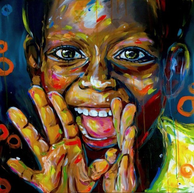 A Smile From Madagaskar size 80 x 80 cm