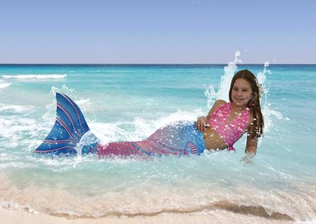 Schwimmen wie eine echte Meerjungfrau