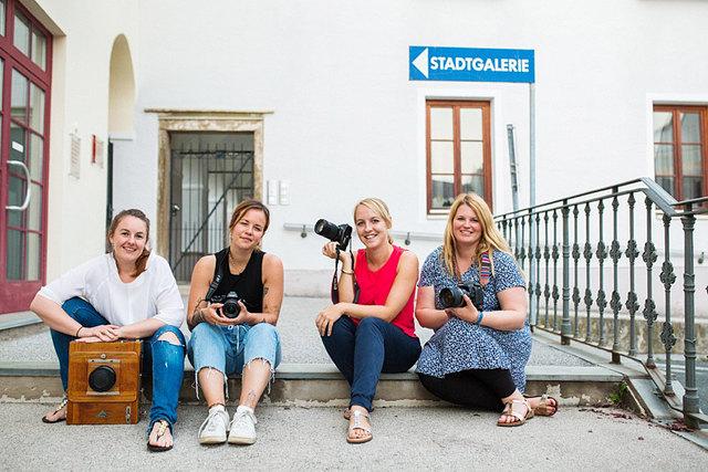 Daniela Vallant, Teresa Cancola, Martina Schmerlaib und Daniela Grössing (v. li.)