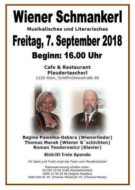 Wienerlied - Nachmittag im Plaudertascherl