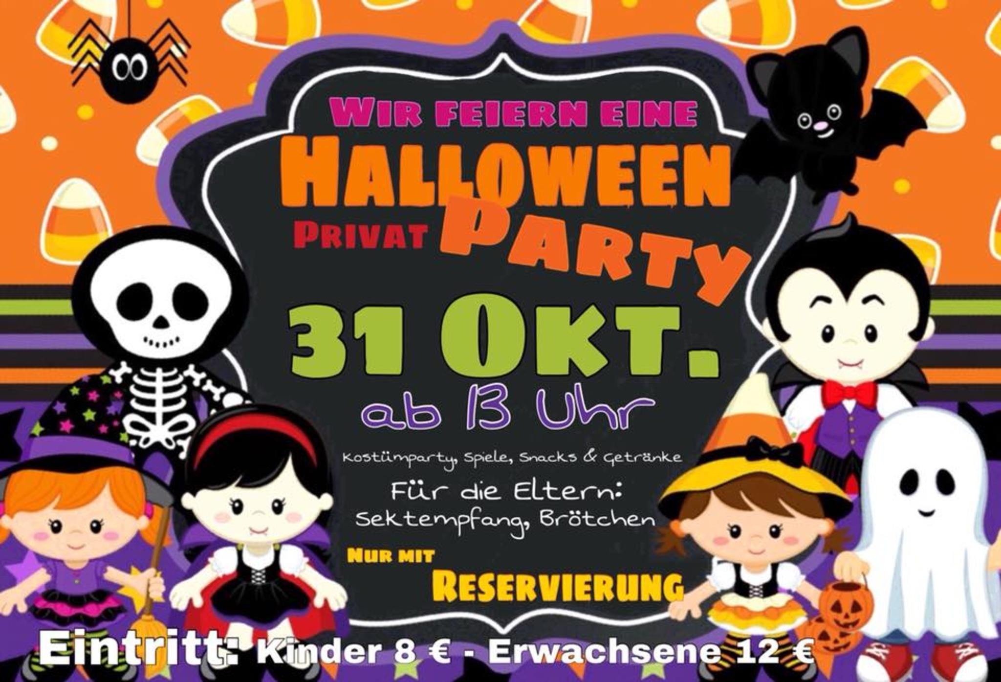 Halloween Party im Nimmerland Eltern-Kind-Cafe