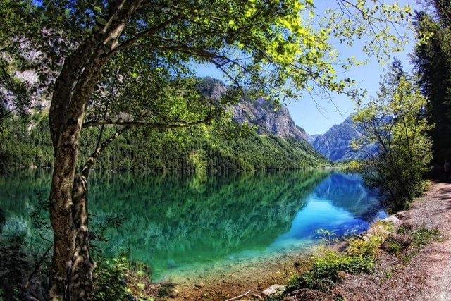 Klettersteig Leopoldsteinersee : Echo und weisenblasen am leopoldsteinersee