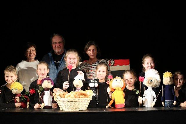 Die Puppentheatergruppe aus St. Michael ob Bleiburg ist zu Gast in Schwabegg