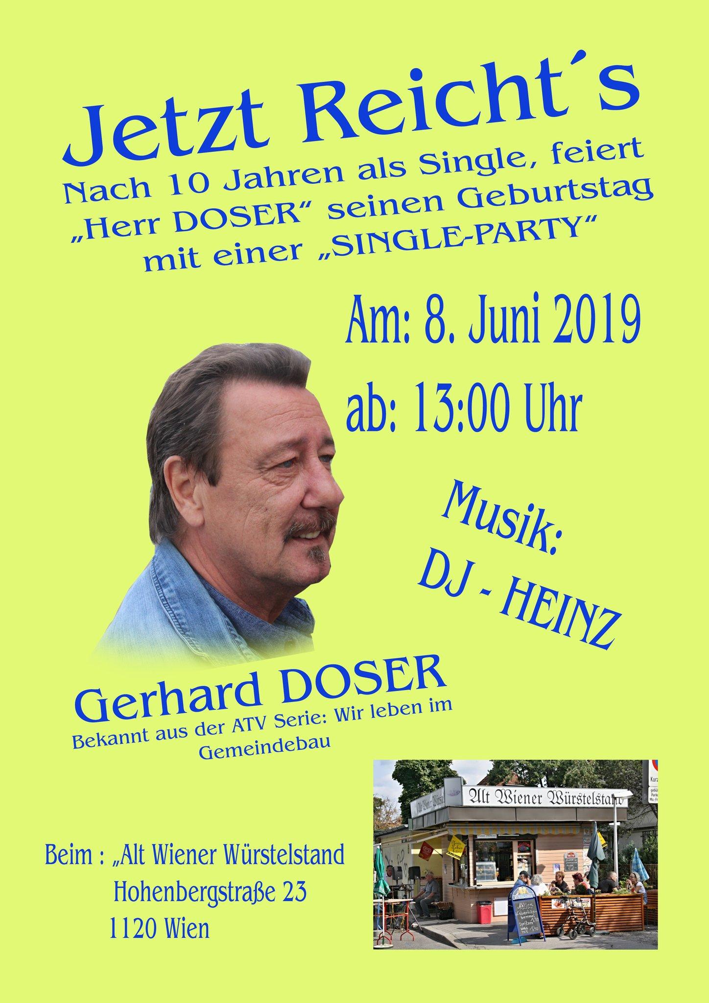 Herr Doser feiert Geburtstag mit einer Single-Party