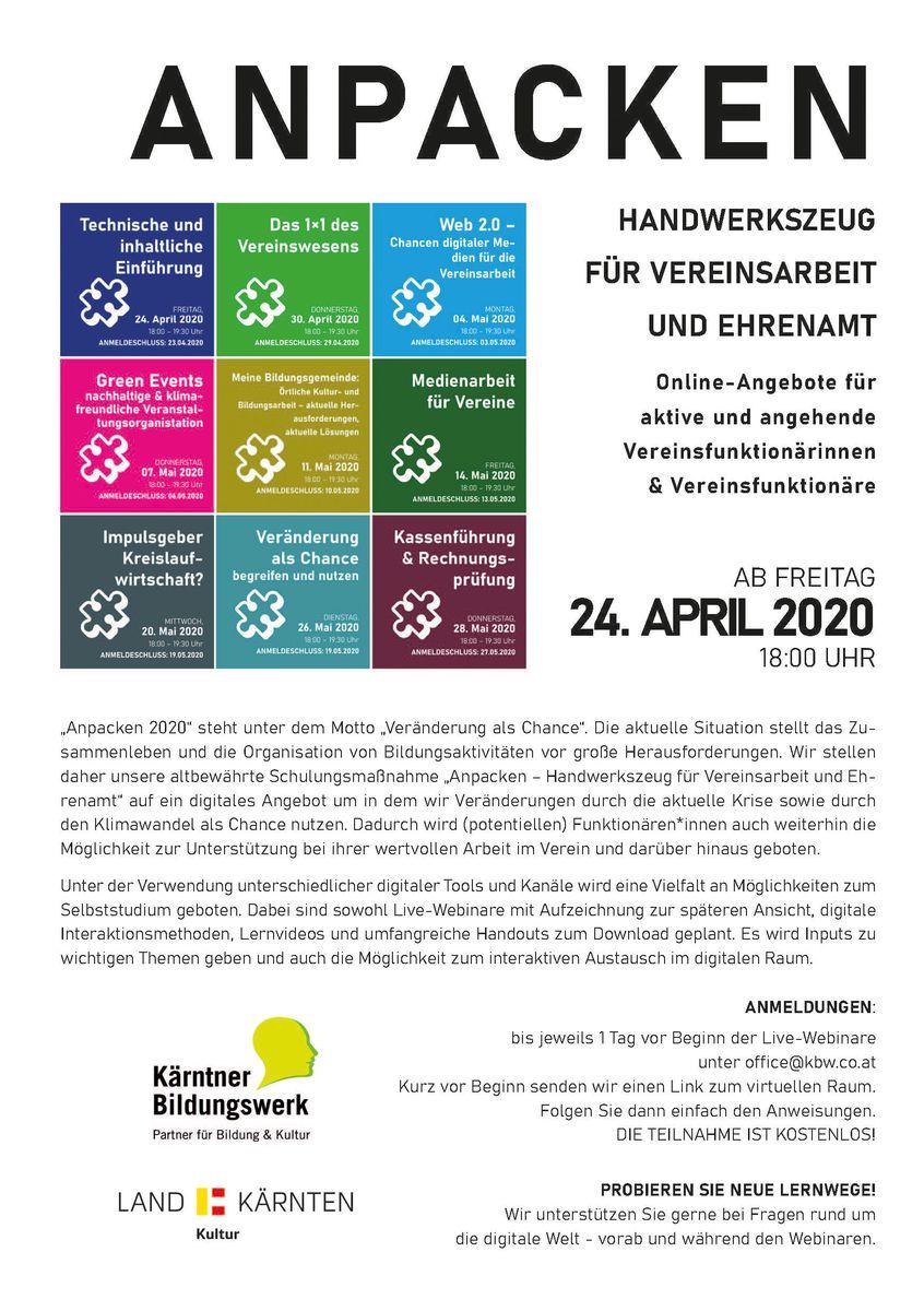 Workshop/Seminar/Infoveranstaltung in der Region Spittal